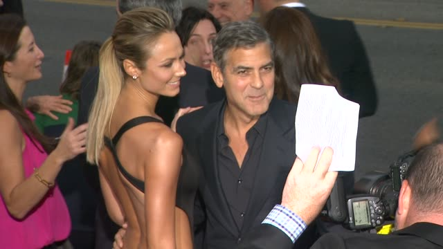 Stacy Keibler George Clooney at Argo Los Angeles Premiere on 104/12 in Los Angeles CA