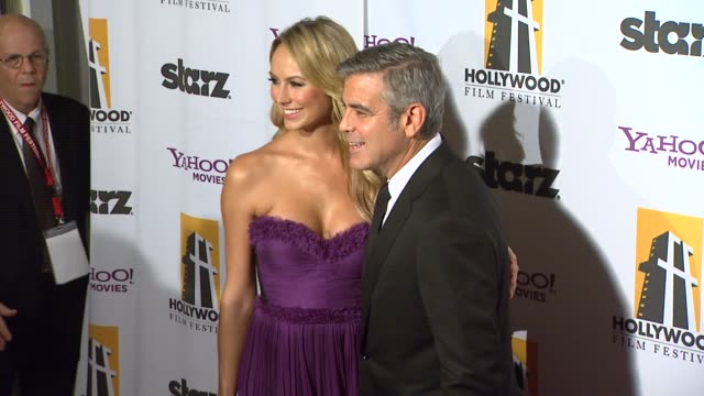 Stacy Keibler George Clooney at the 15th Annual Hollywood Film Awards Gala at Beverly Hills CA