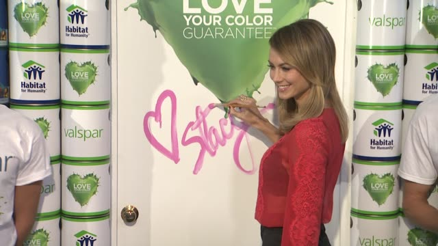 Stacy Keibler Launches Valspar Love Your Color Guarantee Project EVENT CAPSULE CLEAN Stacy Keibler Launches Valspa at Bath House Studios on October...