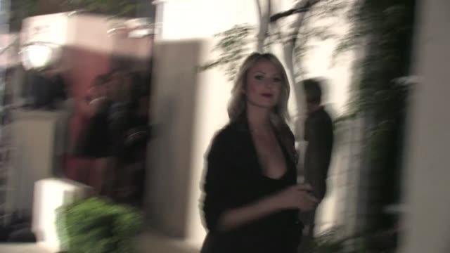 stockvideo's en b-roll-footage met stacy keibler leaving boulevard 3 in hollywood at the celebrity sightings in los angeles at los angeles ca. - boulevard