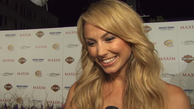 Stacy Keibler on being on the list on her current projects on her partner in a buddy cop movie at the 11th Annual Maxim Hot 100 at Los Angeles CA
