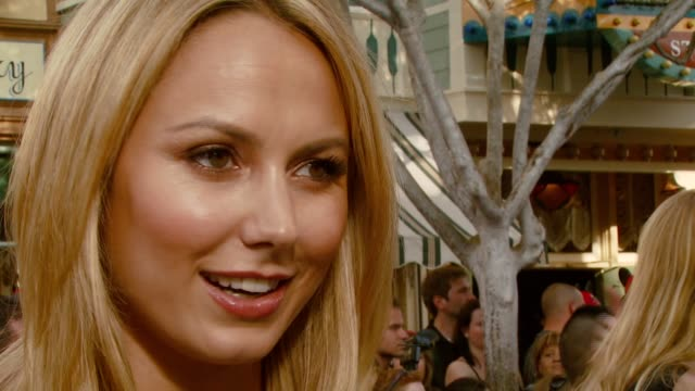 Stacy Keibler on staying busy and her summer plans at the 'Pirates of the Caribbean At World's End' World Premiere at Disneyland in Anaheim...