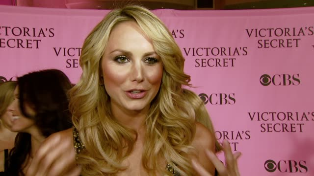 Stacy Keibler on what she's wearing what she's looking forward to tonight and on her favorite fashion right now at the 12th Annual Victoria's Secret...