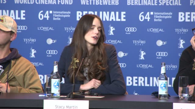 INTERVIEW Stacy Martin Stellan Skarsgard Uma Thurman Christian Slater on working with Lars von Trier at 'Nymphomaniac' Press Conference at Grand...