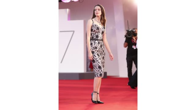 gif stacy martin walks the red carpet ahead of the movie amants at the 77th venice film festival at on september 03 2020 in venice italy - gif stock videos & royalty-free footage