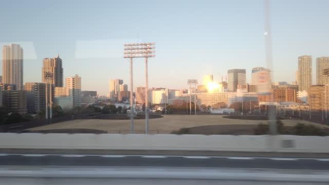 stadion och tokyo city highway view från buss - fordon på land bildbanksvideor och videomaterial från bakom kulisserna