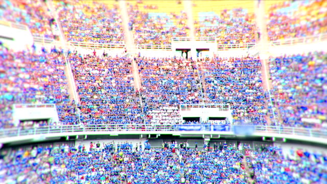 stadium crowd doing the wave. - stadium stock videos & royalty-free footage