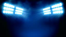 Stadium lights at foggy night