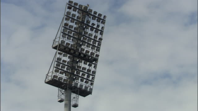 ms tu ws stadium lights/ sheffield, england - floodlight stock videos & royalty-free footage
