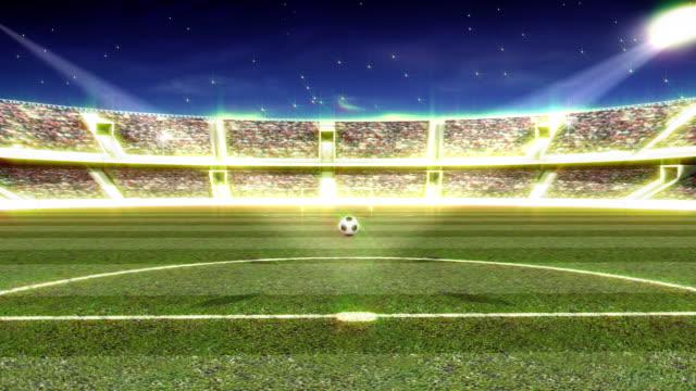 vídeos de stock, filmes e b-roll de estádio - campo de futebol