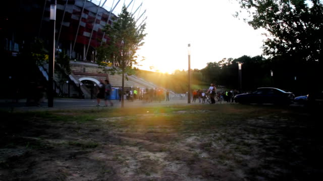 stadium with crowd timelapse - poland stock videos & royalty-free footage