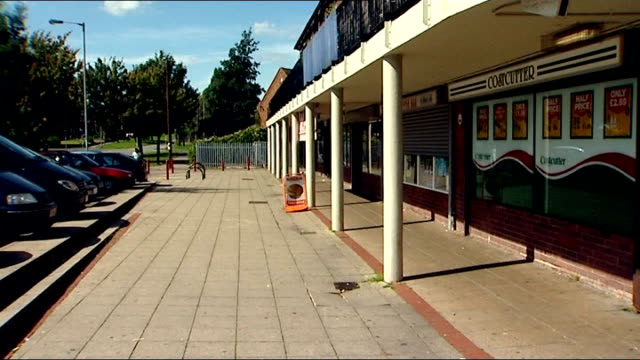 staffordshire lichfield ext parade of shops - lichfield stock videos & royalty-free footage