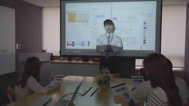 staffs having a meeting all together - korea stock videos & royalty-free footage