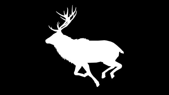 Stag Run Silhouette (Loopable)