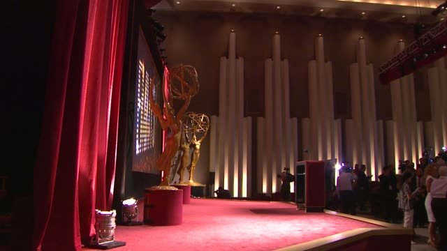 stage and audience at 65th primetime emmy awards nominations announcement. atmosphere - stage and audience at 65th primetime at leonard h. goldenson... - emmy awards nominations stock videos & royalty-free footage