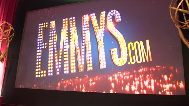atmosphere stage at 65th primetime emmy awards nominations announcement atmosphere stage at 65th primetime emmy awards n at leonard h goldenson... - emmy awards stock videos and b-roll footage