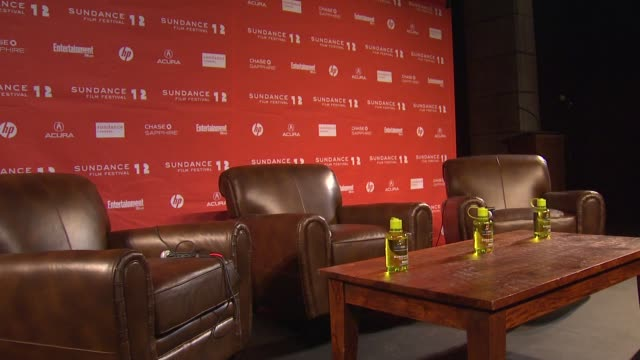 stage at day 1 press conference of 2012 sundance film festival on 1/19/12 in park city utah - 1日目点の映像素材/bロール