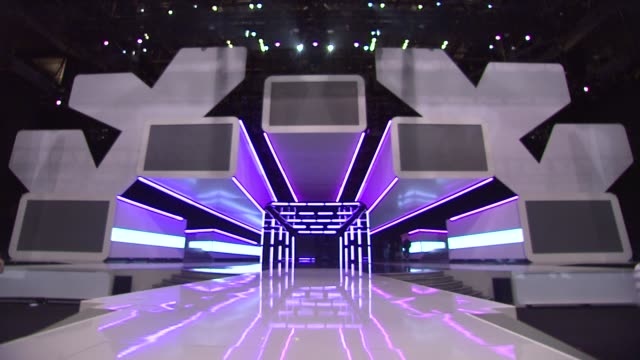 stage at people's choice awards 2012 rehearsals in los angeles ca on 1/10/12 - people's choice awards stock videos & royalty-free footage