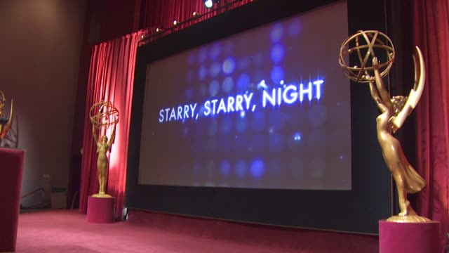 stage at the 62nd primetime emmy awards nominations announcements at los angeles ca. - emmy awards nominations stock videos & royalty-free footage