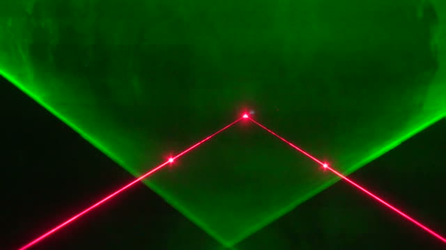 stage colored laser lights - exhibition stock videos and b-roll footage