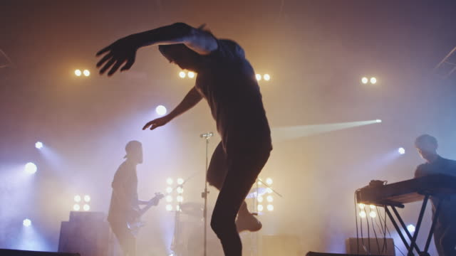stage diving - jumping stock videos & royalty-free footage