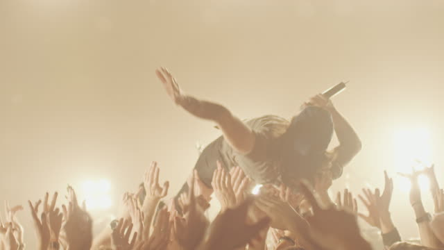 stage diving - music festival stock videos & royalty-free footage