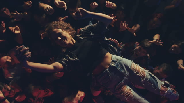 stage diving - evento video stock e b–roll