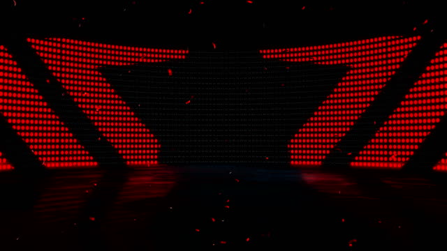 stage led light dance - 4k quality - seamless loop stock video - star shape stock videos & royalty-free footage