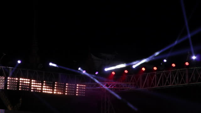 Stage light in concert.