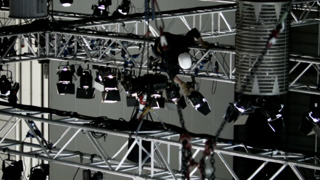 stage lighting system - scaffolding stock videos & royalty-free footage