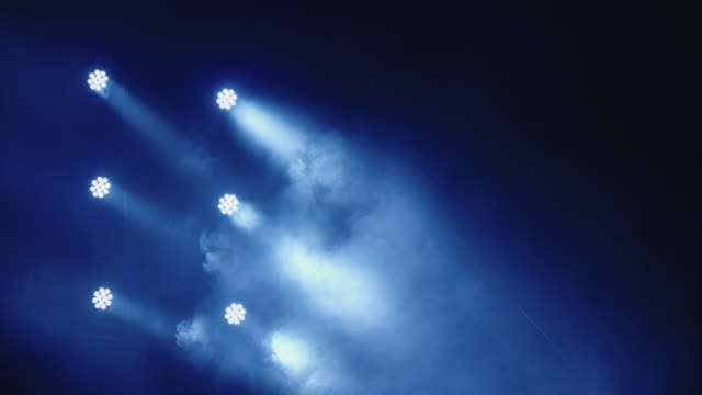 Stage Lights. Blue. Smoke