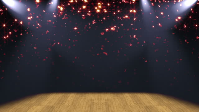 Stage Lights Glitter Background Loop