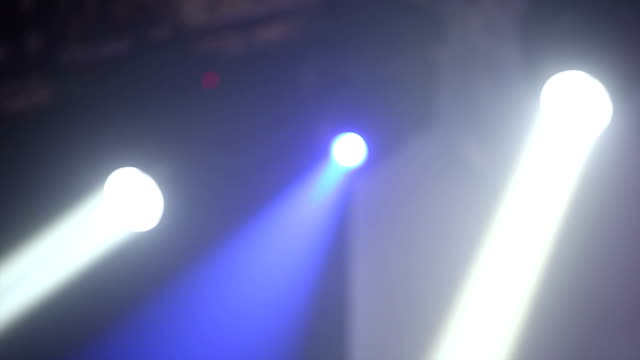 Stage lights in dance club