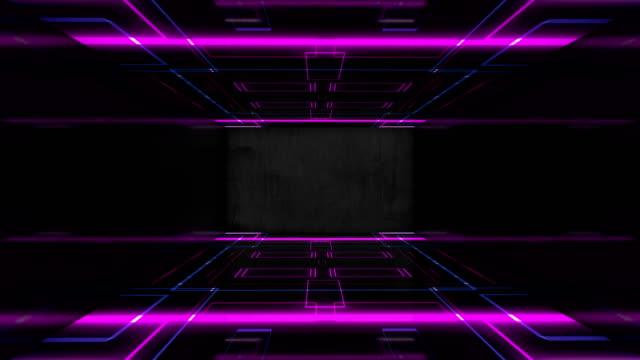 vídeos de stock, filmes e b-roll de luzes de palco levaram fundo colorido abstrato de fundo disco luzes concerto loop perfeito - retângulo