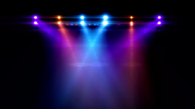 stage lights - illuminated stock videos & royalty-free footage