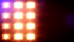 Stage lights, with sound. Square. Blue-Yellow. Close-up.