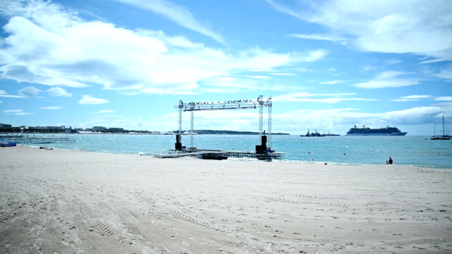 stage on the beach. - backstage stock videos & royalty-free footage