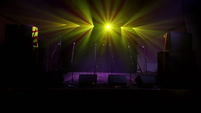 ws stage with spotlights - stage performance space stock videos & royalty-free footage