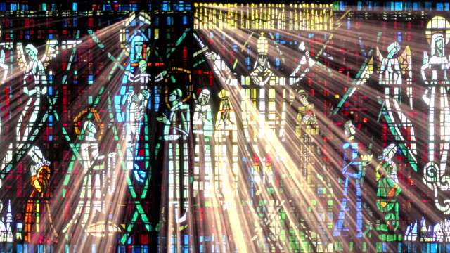stain glass light rays - christianity stock videos & royalty-free footage