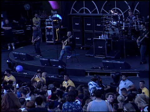 staind at the 2003 kroq weenie roast at verizon amphitheater in irvine california on june 14 2003 - kroq weenie roast stock videos & royalty-free footage