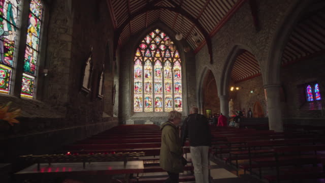 stained glass in church - Ireland