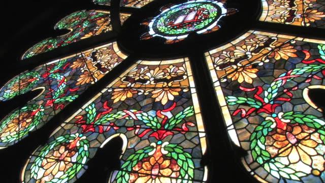 Vitrales ventana de vidrio en alta definición