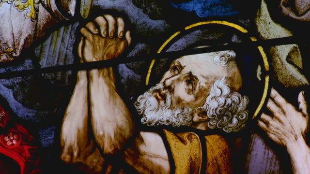 stained glass window - apostle stock videos and b-roll footage