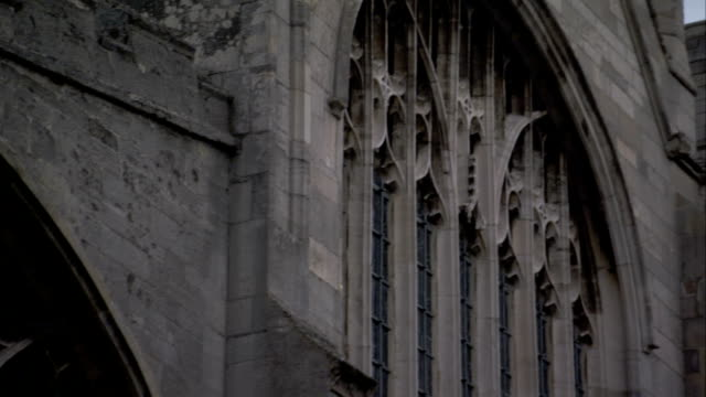 Stained glass windows in the St Edmundsbury Cathedral, Bury St Edmunds. Available in HD.