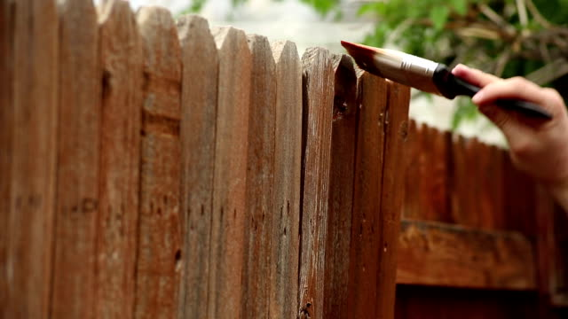 staining - fence stock videos & royalty-free footage