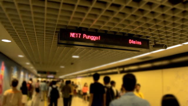 mrt staion at singapore - luggage stock videos & royalty-free footage