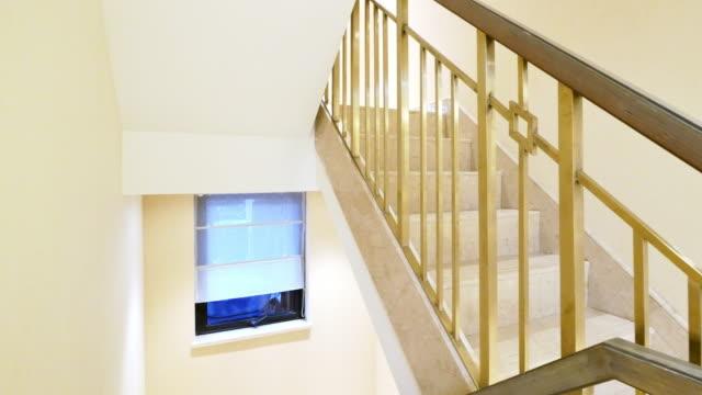 stair hall interior - dentro video stock e b–roll