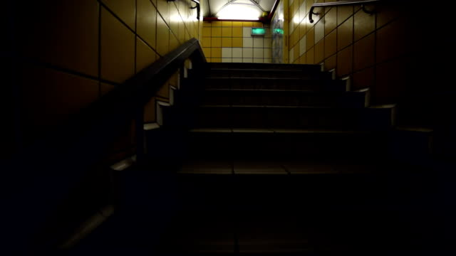 Stairs in the tunnel