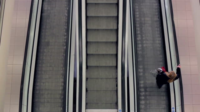 stairway to shopping - stair lift stock videos and b-roll footage