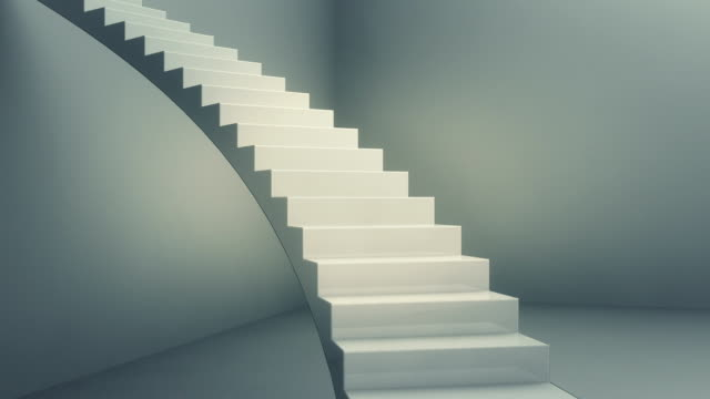 stairway to the top - steps and staircases stock videos & royalty-free footage
